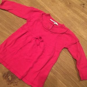 Hot pink sweater dress by 3Pommes